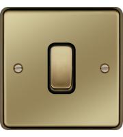 Hager Intermediate Switch (Polished Brass)