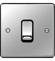 Hager Intermediate Switch (Polished Steel)