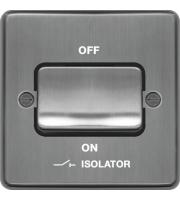 Hager 3 Pole Isolator Switch (Brushed Steel)