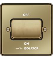 Hager 3 Pole Isolator Switch (Polished Brass)
