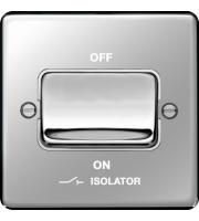 Hager 3 Pole Isolator Switch (Polished Steel)