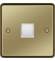 Hager RJ45 Socket (Polished Brass)