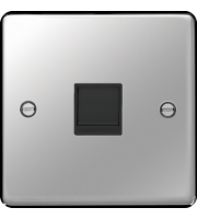 Hager RJ45 Socket (Polished Steel)