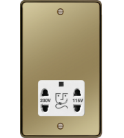 Hager 110/240V Shaver Outlet (Polished Brass)