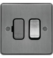 Hager Switched Fused Connection Unit (Brushed Steel)