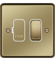 Hager 13A Switched Fused Connection Unit (Polished Brass)