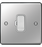 Hager Unswitched Fused Connection Unit (Polished Steel)