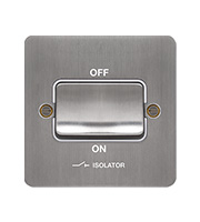 Hager 3 Pole Isolator Switch (Brushed Steel/White)