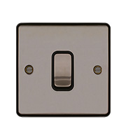 Hager 10AX 1 Gang 2 Way Wall Switch (Black Nickel)
