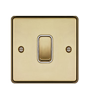 Hager 10AX 1 Gang 2 Way Wall Switch (Polished Brass)