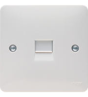 Hager BT Secondary Telephone Outlet (White)