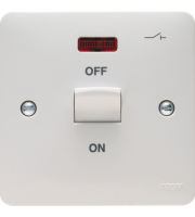 Hager 1G 50A Double Pole Switch with LED (White)