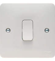 Hager 20A Double Pole Switch (White)