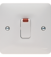 Hager 20A Double Pole Switch with Neon (White)