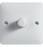 Hager 60-400W 230V 50/60Hz 1 Gang Dimmer (White)