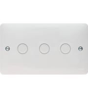 Hager 3 Gang 250W Dimmer Switch (White)