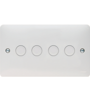 Hager 4 Gang Dimmer Switch (White)