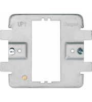 Hager 1 Gang Grid Frame (Grey)