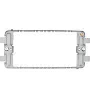 Hager 3/4 Gang Grid Frame (Grey)