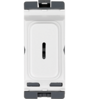 Hager 20A Double Pole Key Switch (White)