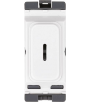 Hager 20A Double Pole Emergency Key Switch (White)