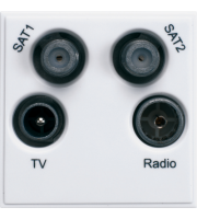 Hager TV/FM/DAB/Datellite Quadplexer (White)