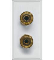 Hager Speaker Terminal Posts Euromodule (White)