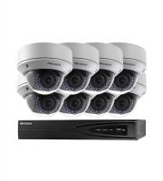 8CH HIKvision HD NVR + 8 x 3.0MP Outdoor WDR Dome Camera Kit (Black/White)