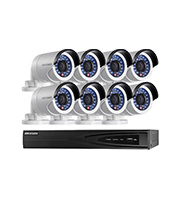 8CH Hikvision HD NVR + 8 x 4.0MP Outdoor WDR Bullet Camera Kit (Black/White)