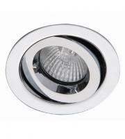 Ansell iCage Mini Tilt 50W GU10 / MR16 Die-Cast Downlight (Chrome)