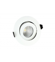 Integral 92mm 9W 3000K Fire Rated Tiltable LED Downlight (Matt White)