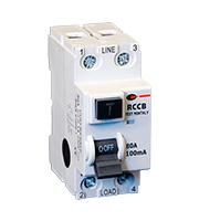 Lewden 80A 100mA 2P 2 Module RCCB (White)
