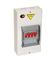 Lewden 125A Single Phase Metal Clad Changeover Switch (White)