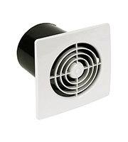 Manrose 4 Inch Low Profile Standard Extractor Fan (White)