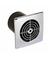 Manrose 4 Inch Low Profile Extractor Fan with Timer (Chrome)