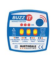 Martindale Buzz-It 240V Socket Tester with Audible Buzzer (Blue)
