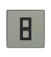 LightwaveRF 250W 1 Gang Dimmer Switch (Black)