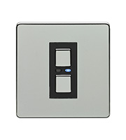 LightwaveRF 250W 1 Gang Dimmer Switch (Chrome)