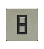 LightwaveRF 250W 1 Gang Dimmer Switch (Stainless Steel)