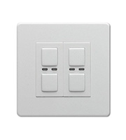 LightwaveRF 250W 2 Gang Double Slave Dimmer Switch (White)