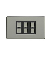 LightwaveRF 210W 3 Gang Dimmer Switch (Black)