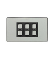 LightwaveRF 210W 3 Gang Dimmer Switch (Chrome)