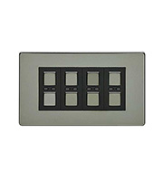 LightwaveRF 210W 4 Gang Dimmer Switch (Black)