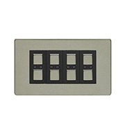 LightwaveRF 210W 4 Gang Dimmer Switch (Stainless Steel)