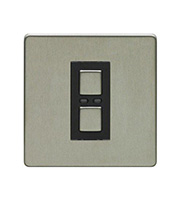 LightwaveRF 250W 1 Gang 2 Way Slave Dimmer Switch (Stainless Steel)