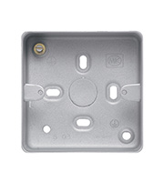 MK Logic Metal Box 41mm 1 Gang without Knockouts (Aluminium)