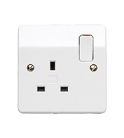 MK Logic Socket Outlet 13A 2 Pole 1 Gang (White)