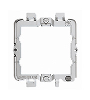 MK Grid Mounting Plate 2 Gang (Grey)