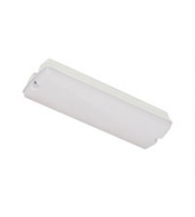 Robus Bulkhead 2.6W Led, IP65, 352mm, White, With Test Switch (White)