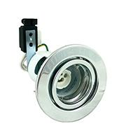 Robus Straight Spring Loaded Enclosed GU/GZ10 Downlight (Chrome)
